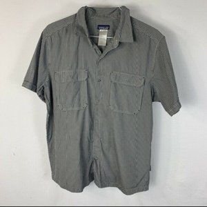 Patagonia Short Sleeve Button Down Shirt Black L